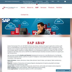 SAP ABAP, Get Software And Technology Solutions Of SAP, SAP Training