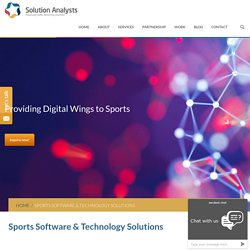 Sports Software, IT, Technology Solutions, Mobility Solutions