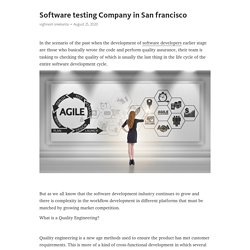 Software testing Company in San francisco