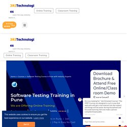 Software Testing Course in Pune with Industry Experts
