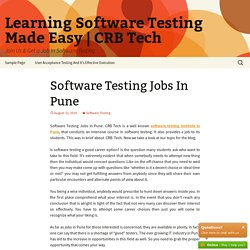 Software Testing Jobs In Pune