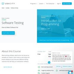 Software Testing Methodologies Class Online
