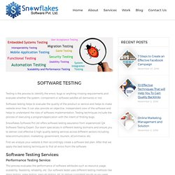 Web & Mobile App Testing‎ - Snowflakes Software