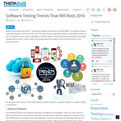 Software Testing Trends Of 2016