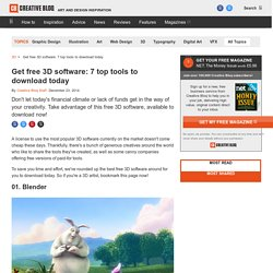Get free 3D software: 7 top tools to download today