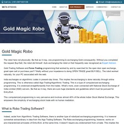 Gold Magic Robo Software