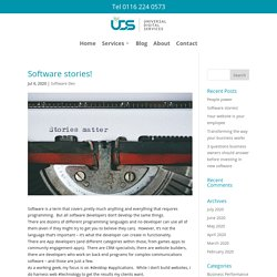 Software stories! - Universal Digital Services Ltd