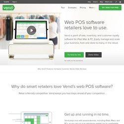 Vend iPad & Cloud Point of Sale