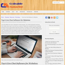 Top 6 Live Chat Software for Websites - Codeable Magazine
