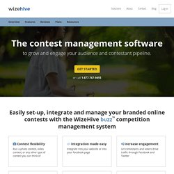 Online contest software for websites, Facebook, photo and video competition - WizeHive Buzz