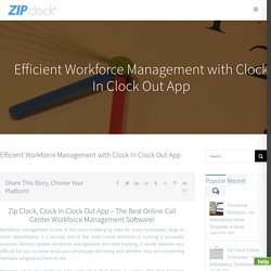 Clock in Clock Out Software and App For Workforce Management