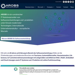 Softwareentwicklung und IT-Outsourcing mit AROBS - ihre Solutionprovider