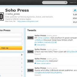 Soho Press (soho_press) on Twitter