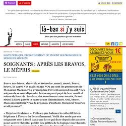 SOIGNANTS : APRÈS LES BRAVOS, LE MÉPRIS