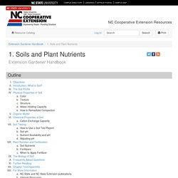 1. Soils and Plant Nutrients