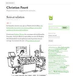 Soin et relation – Christian Fauré