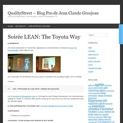 Soirée LEAN: The Toyota Way