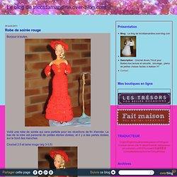 Robe de soirée rouge - Le blog de tricotdamandine.over-blog.com