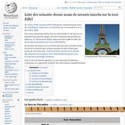 Liste des soixante-douze noms de savants inscrits sur la tour Eiffel