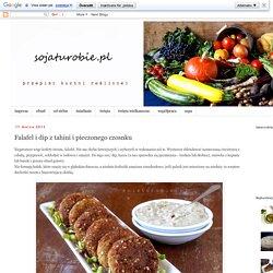 sojaturobie: Falafel i dip z tahini i pieczonego czosnku