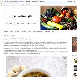 sojaturobie: Zupa pieczarkowa z ciecierzycą i makaronem