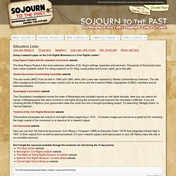 Sojourn to the Past » Education Links