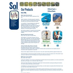 Sol Sunguard: Our Products
