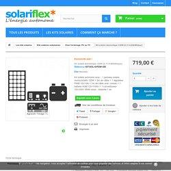 Kit solaire autonome 120W - 110Ah@12V - 350W@220V