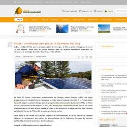 28/02/17 - Création d'emplois dans la fillière solaire