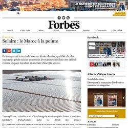 Solaire: le Maroc à la pointe