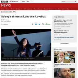 Solange shines at London's Lovebox