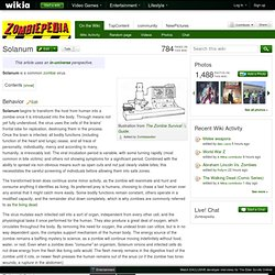 Solanum - Zombie Wiki - Zombies, Undead, Survival Guide