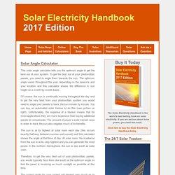 Solar Panel Angle Calculator