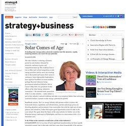 Solar Comes of Age