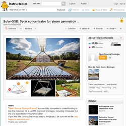 Solar-OSE: Solar concentrator for steam generation - 2