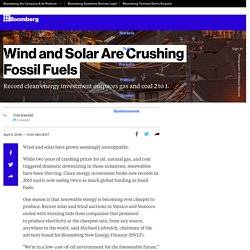 Wind and Solar Are Crushing Fossil Fuels