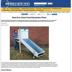 Best-Ever Solar Food Dehydrator Plans