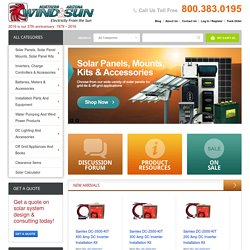 Solar Electric Power Systems For On & Off Grid