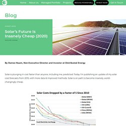 Will The Cost Of Solar Power Electricity Be Insanely Cheap?