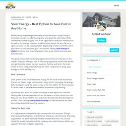 Solar Energy – Best Option to Save Cost in Any Home