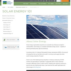 Solar Energy 101 - Green Mountain Energy Company