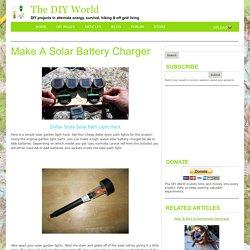 Solar Garden Light Hack - Make A Solar Battery Charger