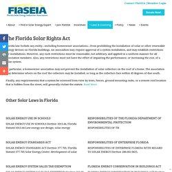 Solar Laws -