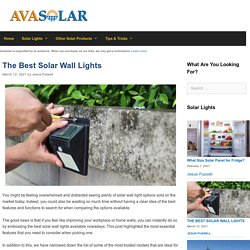 The 12 Best Solar Wall Light Reviews of 2021 - Avasolar