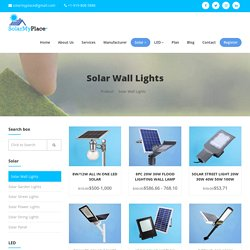 Buy the A1 LED Solar Lights at Solarmyplace.org