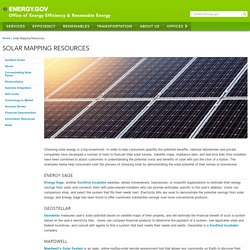 Solar Mapping Resources