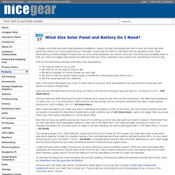 What Size Solar Panel and Battery Do I Need? - nicegear blog