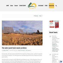 The solar panel toxic waste problem