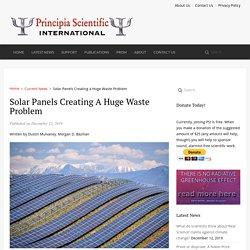 Solar Panels Creating a Huge Waste Problem