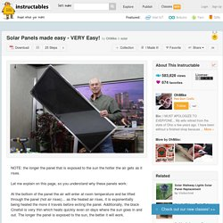 Solar Panels made easy - VERY Easy!